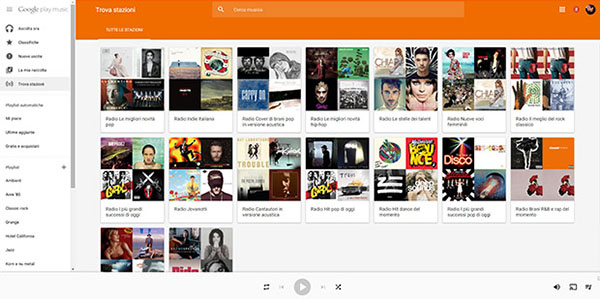 Google Play Musica Web