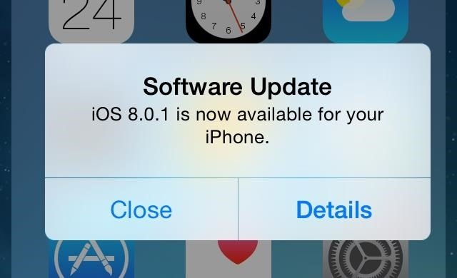 iOS 8.0.1 upgrade
