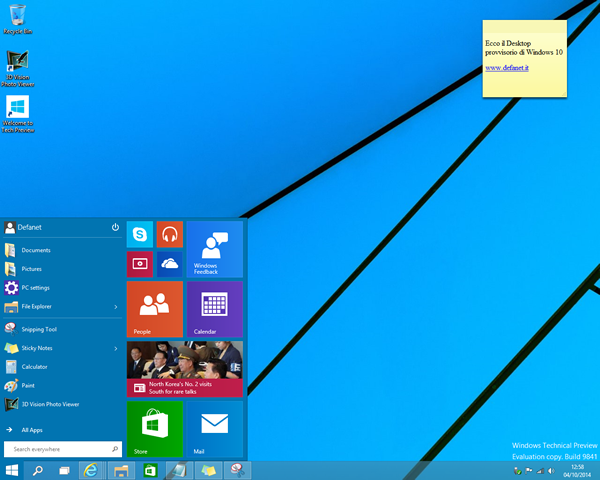 Windows 10 Menù Start