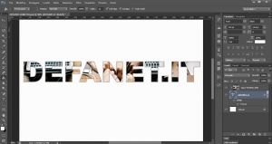 Photoshop: Come riempire testo con immagine