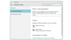 Come cambiare lingua su windows 10
