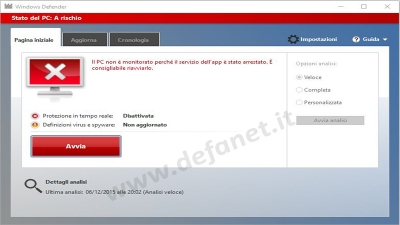 Windows 10: Come disattivare Windows Defender